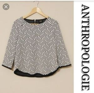 Anthropologie W5 Sz small black and white Top